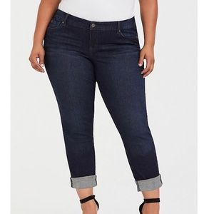 Torrid Womens Boyfriend Jeans Dark Wash